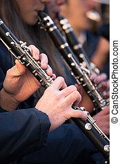 Clarinets of a municipal band.