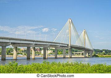 clark, btridge, felett, mississippi folyó
