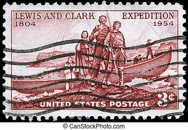 clark, eua, lewis, -, 1954, circa