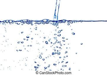 claro, agua azul, corriente