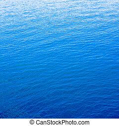 claro, azul, mar, con, espacio, para, texto