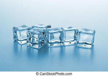 claro, cubos, gelo