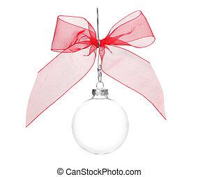 claro, um, decoração, cristal, bulbo, feriado