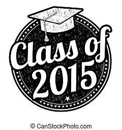 clase, de, 2015, estampilla