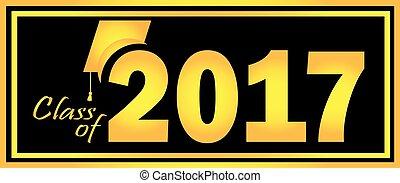 clase, de, 2017, graduación, oro