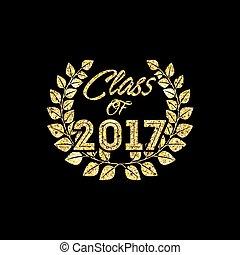clase, de, 2017, tarjeta