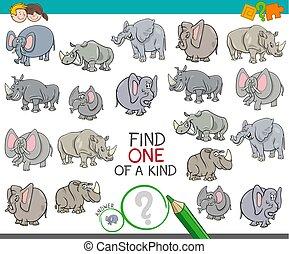 clase, hallazgo, animal, caracteres, uno