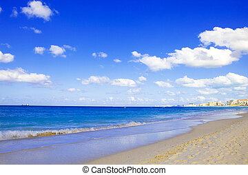 clase, mexico., parte, mar, cancun