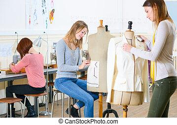 clase, textiles