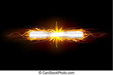 Clash of Bullets - illustration of clash of fiery bullet...