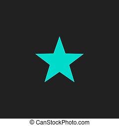 Clasic star - vector icon