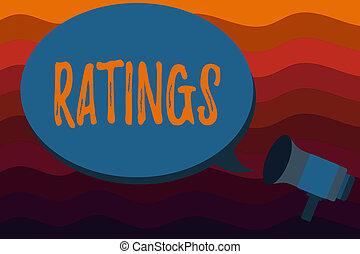clasificación, clasificación, comparación, texto, actuación, señal, ratings., foto, conceptual, estándares, calidad, perforanalysisce
