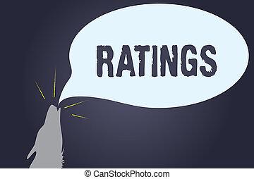 clasificación, concepto, clasificación, comparación, texto, estándares, significado, ratings., escritura, calidad, perforanalysisce