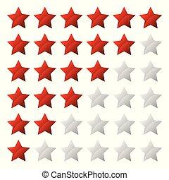 clasificación, estrella, simple, sistema, forma, 6