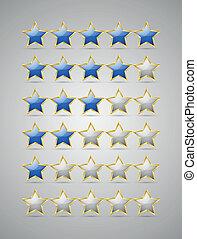 clasificación, estrellas