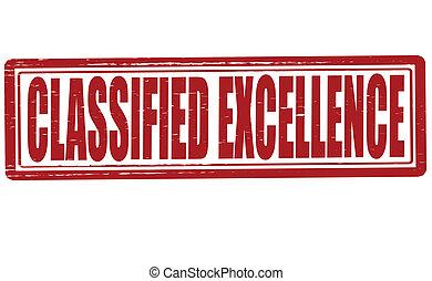 clasificado, excelencia