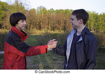 Two teens.