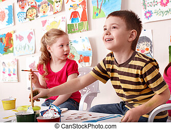 class., לצבוע, אומנות, ילדים