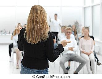 class., 若い, グループ, 多様, 人々, teambuilding