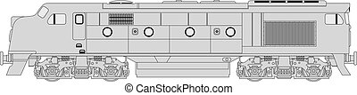 Class 421 loco - High detailed vector illustration of modern...