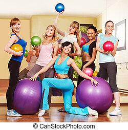class., aeróbica, mulheres
