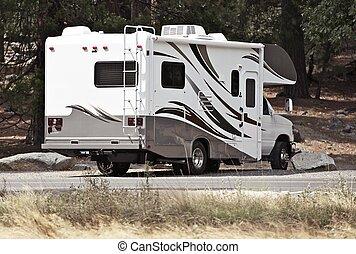 Class C Motorhome ( Rear ) - Campsite. Class C Recreational...