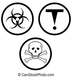 class D of hazardous materials. vector illustration