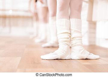 class., meiden, ballet, repeteren, dansers