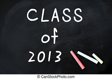 Class of 2013 on a blackboard