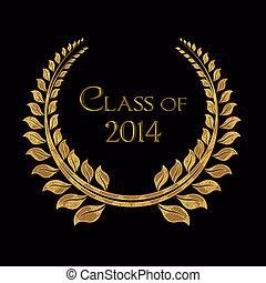 class of 2014 gold laurel
