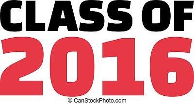 Class of 2016 font