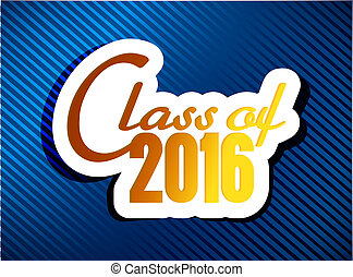 class of 2016. graduation illustration design
