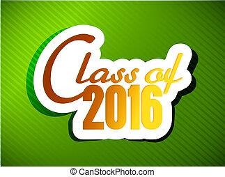 class of 2016. graduation illustration design