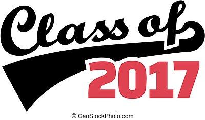Class of 2017. Retro font.