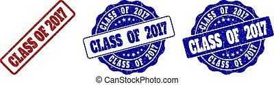 CLASS OF 2017 Scratched Stamp Seals