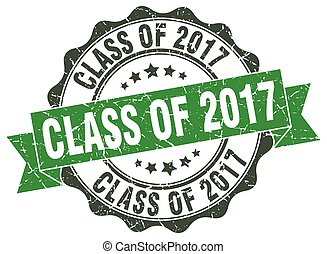 class of 2017 stamp. sign. seal