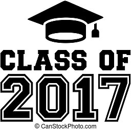 Class of 2017 with graduation hat