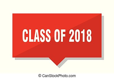 class of 2018 red tag