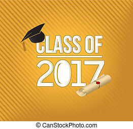 class of 2018 white sign illustration design