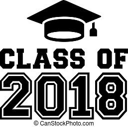 Class of 2018 with mortarboard