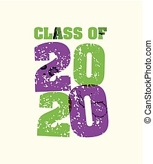 Class of 2020 Concept Stamped Word Art Illustration