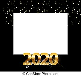 Class of 2020  Graduarion Education Background. Vector Illustration