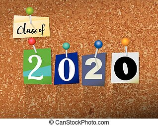 Class of 2020 Pinned Paper Concept Illustration