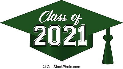 Class of 2021 Graduation Cap Green