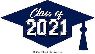 class of 2021 inside graduation cap