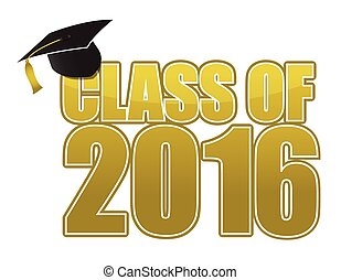 class of Graduation 2016 sign