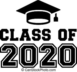 Class of 2020 with mortarboard