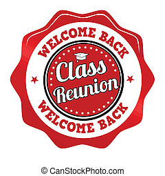 Class reunion sticker, icon, stamp or label