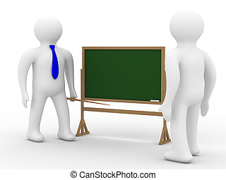 class., school, image., vrijstaand, les, 3d