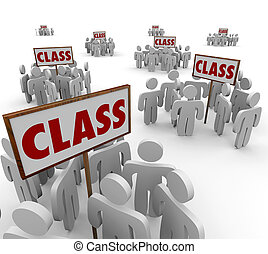 Class Signs Groups People School Students Legal Action...